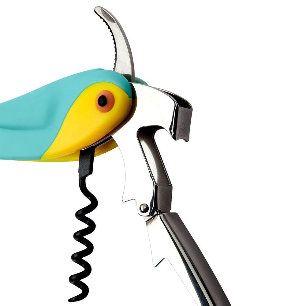 Sunnylife Macaw Bird Corkscrew Bottle Opener