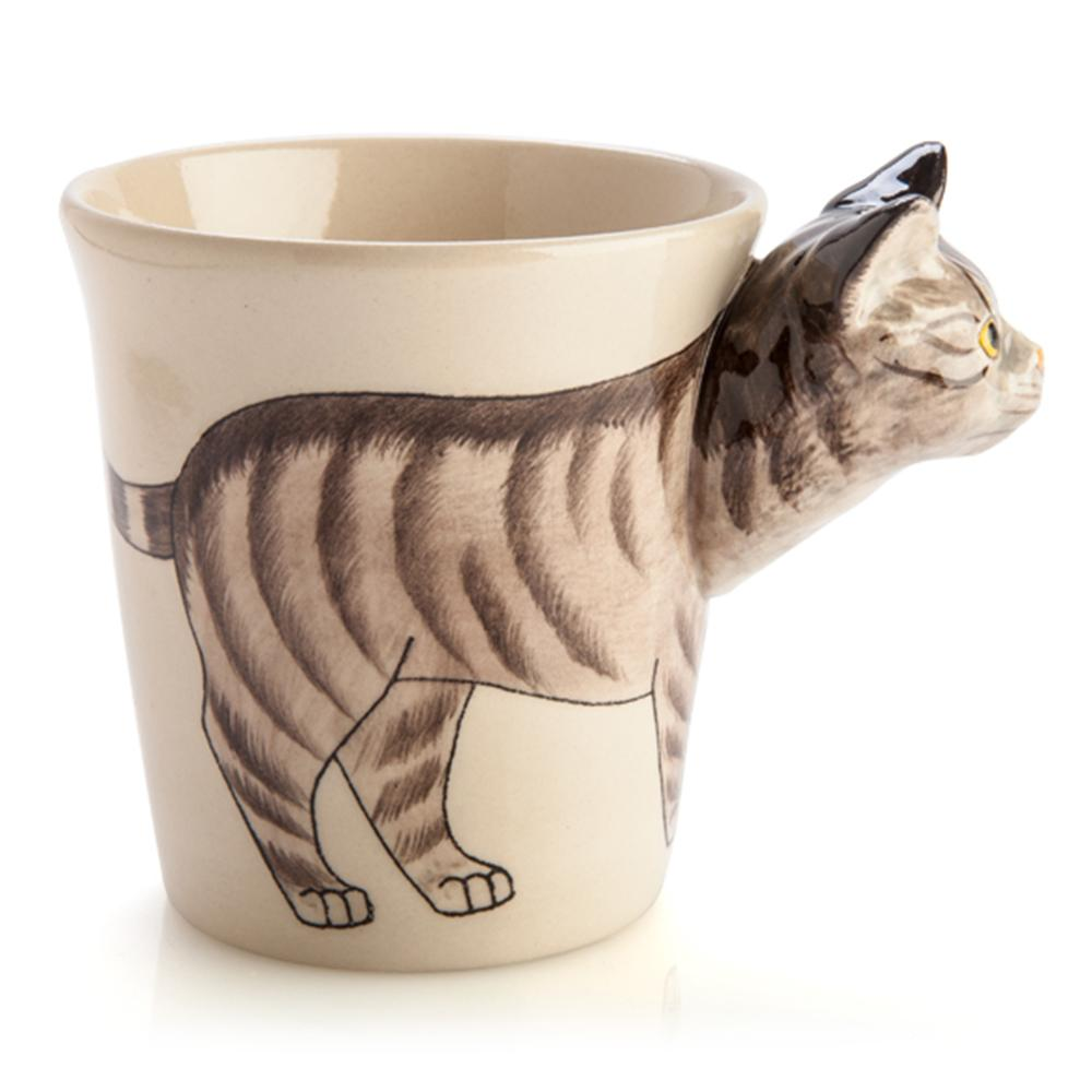 Tabby Cat 3D Ceramic Mug - - mdi - Yellow Octopus