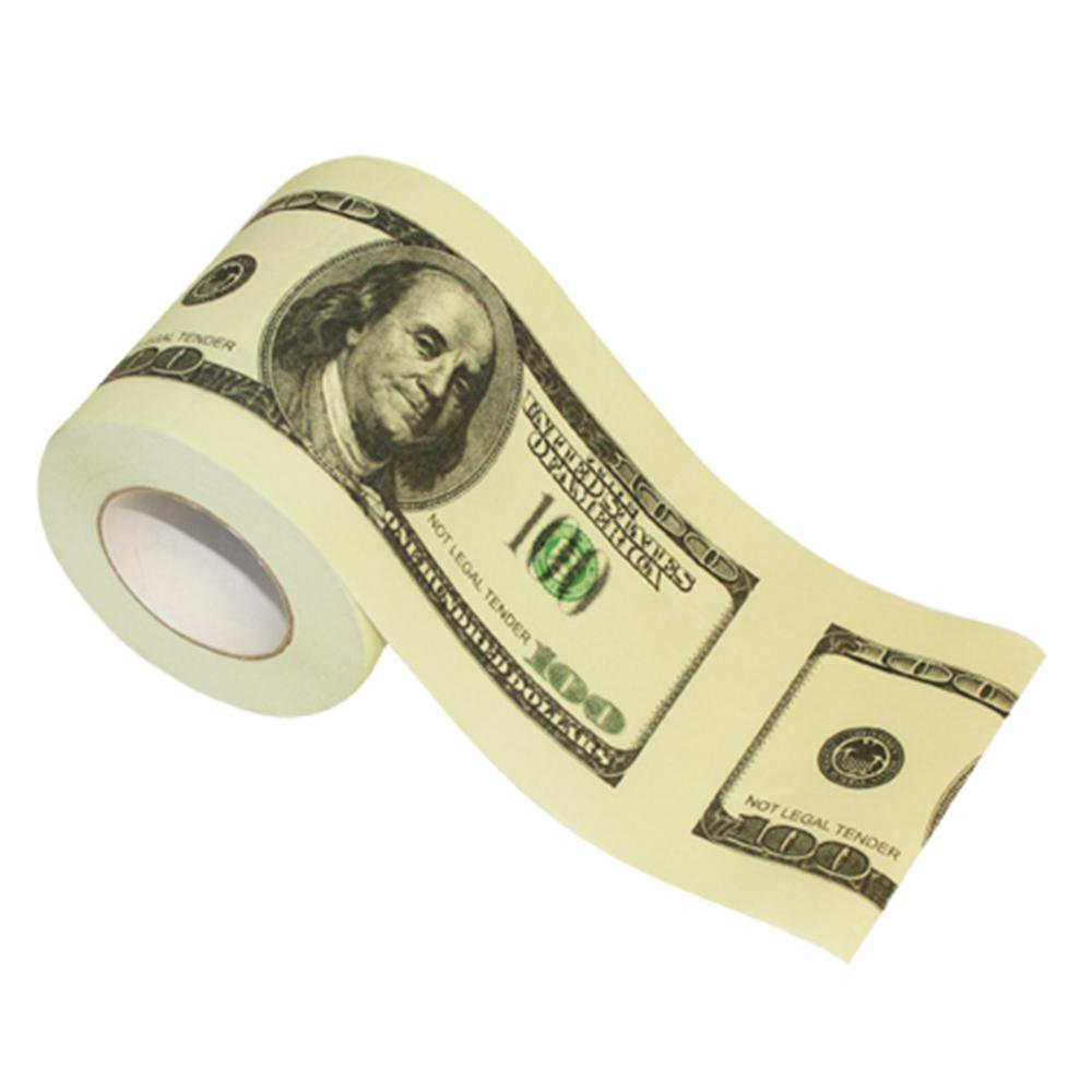 $100 Bill Novelty Toilet Paper - - ThumbsUp! - Yellow Octopus