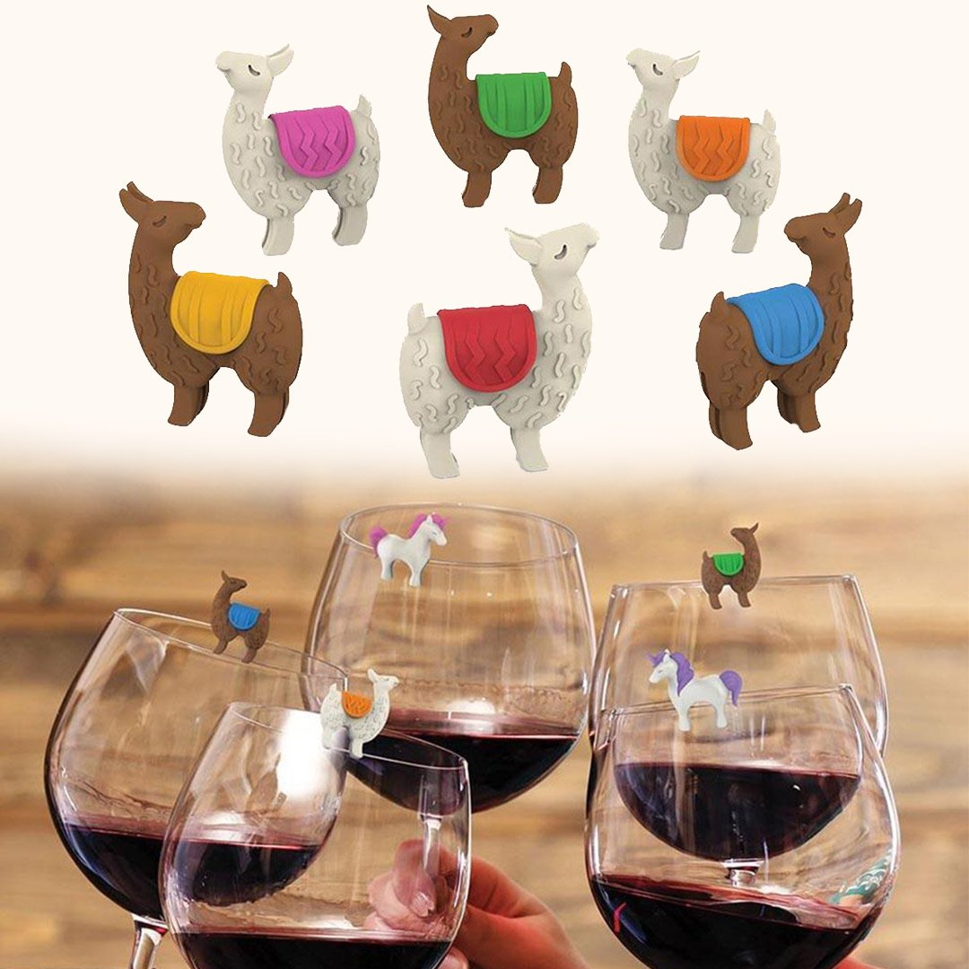 Tiny Prancers Llama Drink Markers - - Fred & Friends - Yellow Octopus