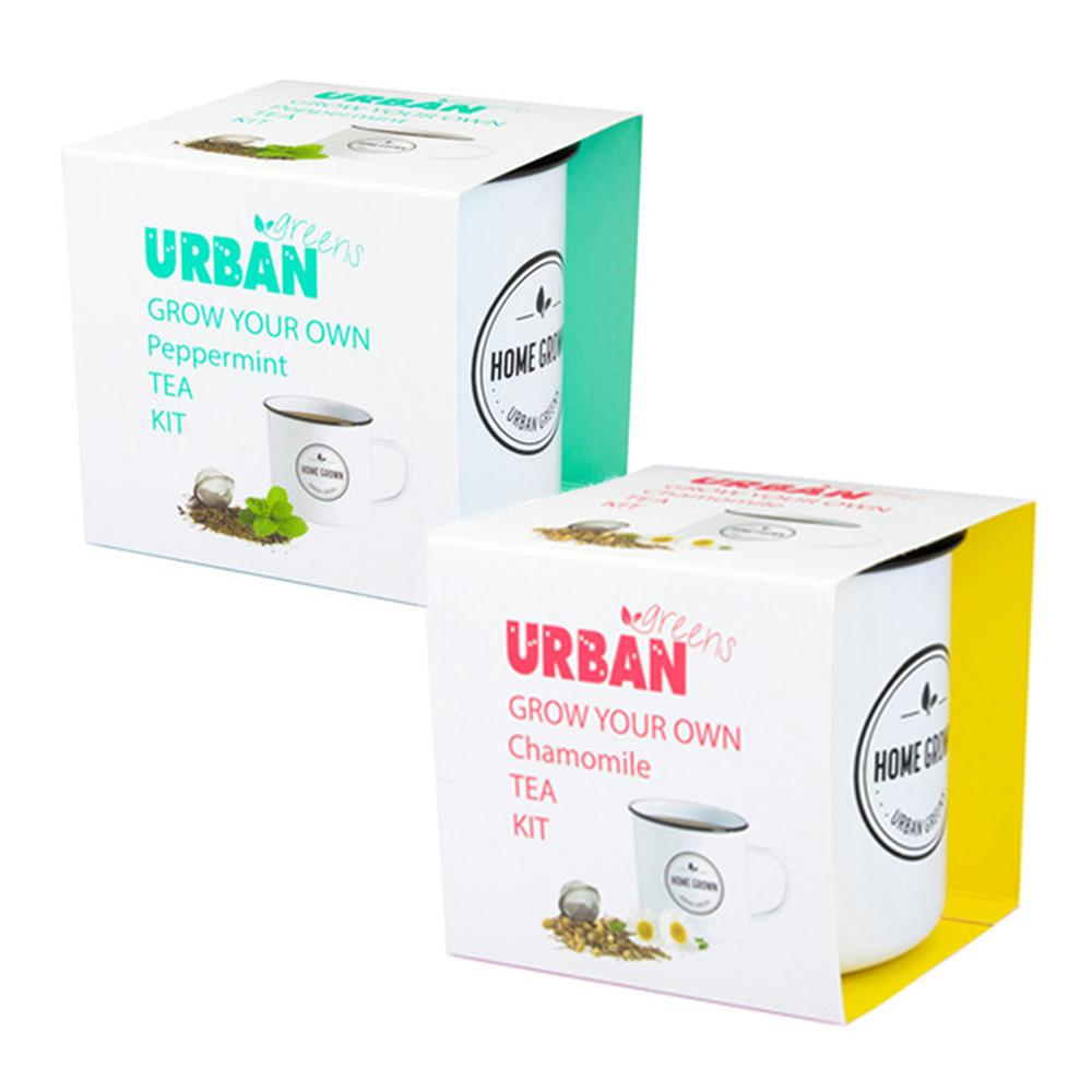 Grow Your Own Herbal Tea Kits | Urban Greens - Peppermint - Urban Greens - Yellow Octopus