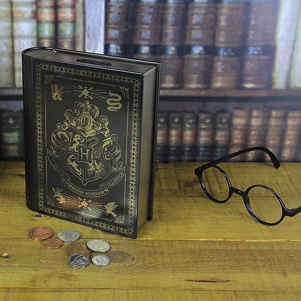 Harry Potter Hogwarts Book Tin Savings Money Bank