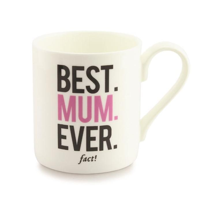 Best. Mum. Ever. Fact! Coffee Mug - - Alice Scott - Yellow Octopus