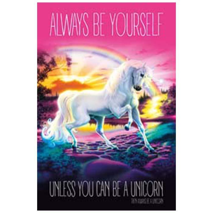Always Be Yourself Unicorn Poster  91.5 x 60cm - - AllPosters - Yellow Octopus