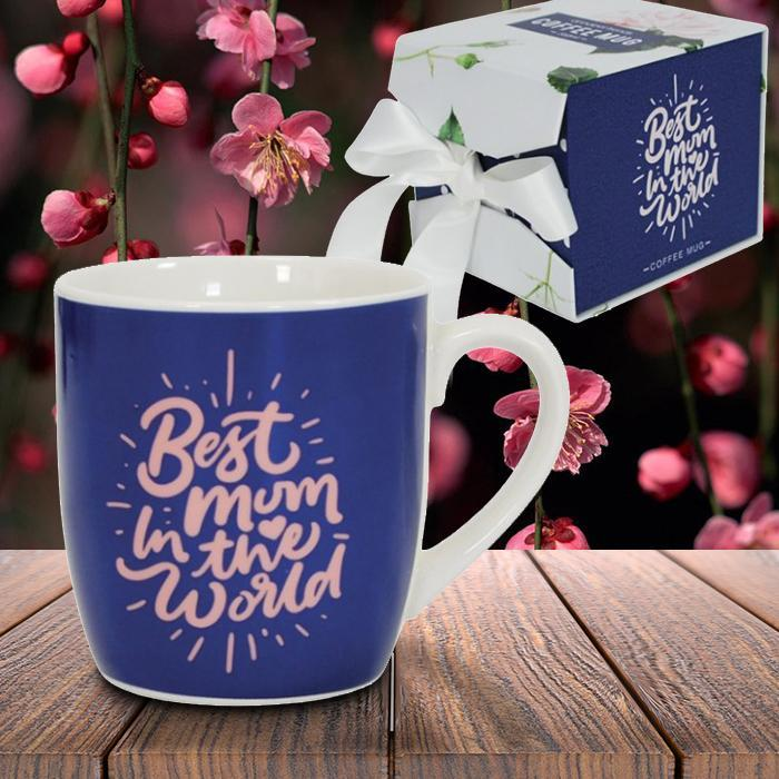 Best Mum in the World Coffee Mug - - Annabel Trends - Yellow Octopus