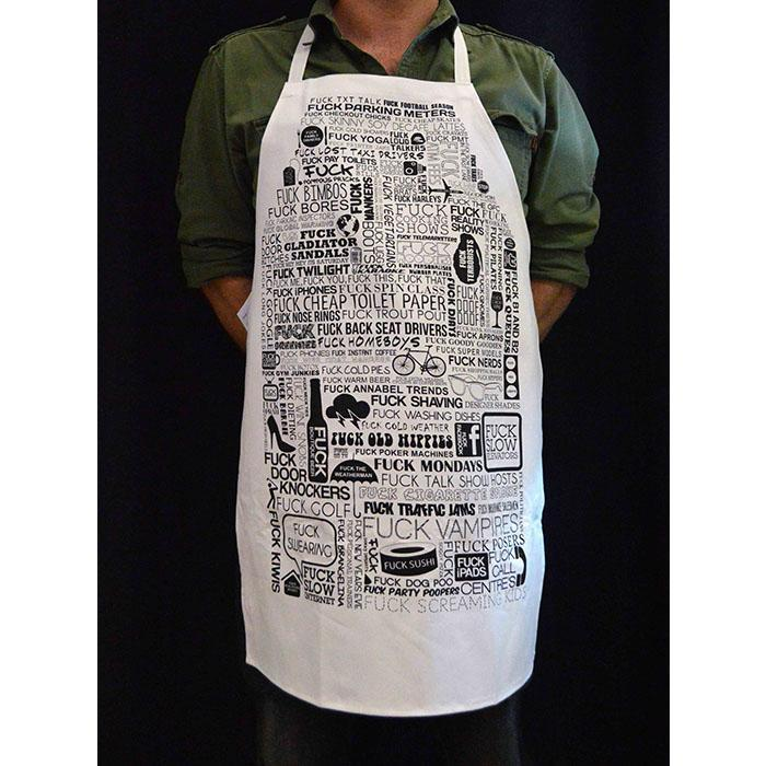 The F Word Apron - - Annabel Trends - Yellow Octopus