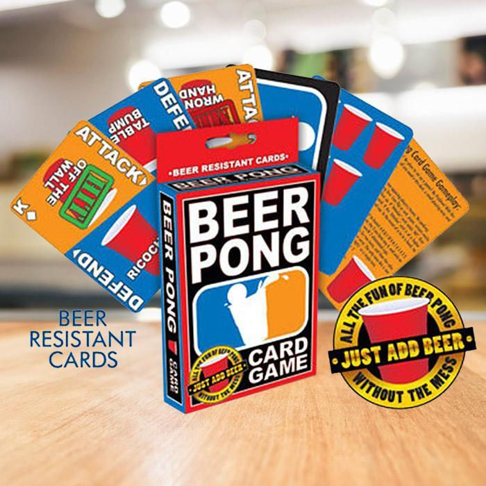 Beer Pong Playing Card Game - Just Add Beer! - - Aquarius - Yellow Octopus
