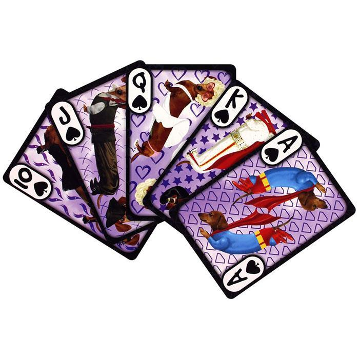 Wonderful Wieners Daschunds Playing Cards - - Aquarius - Yellow Octopus