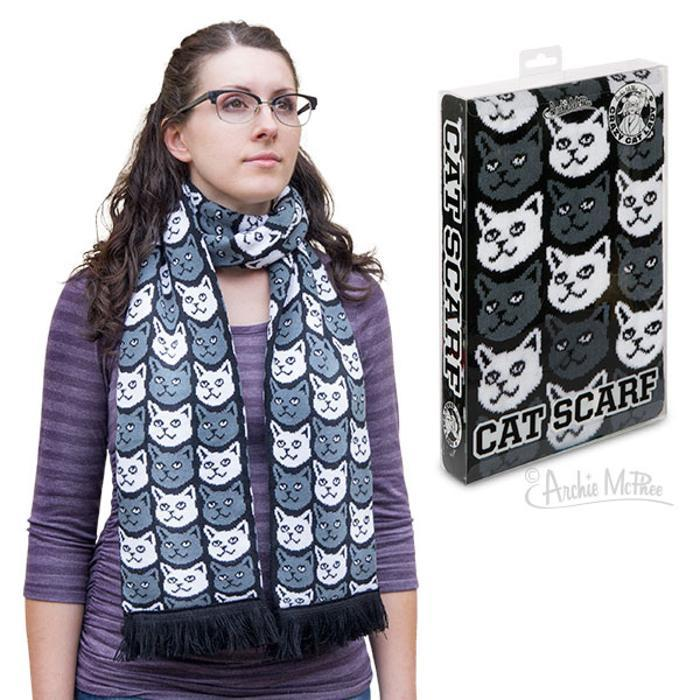 Cat Scarf - - Archie McPhee - Yellow Octopus