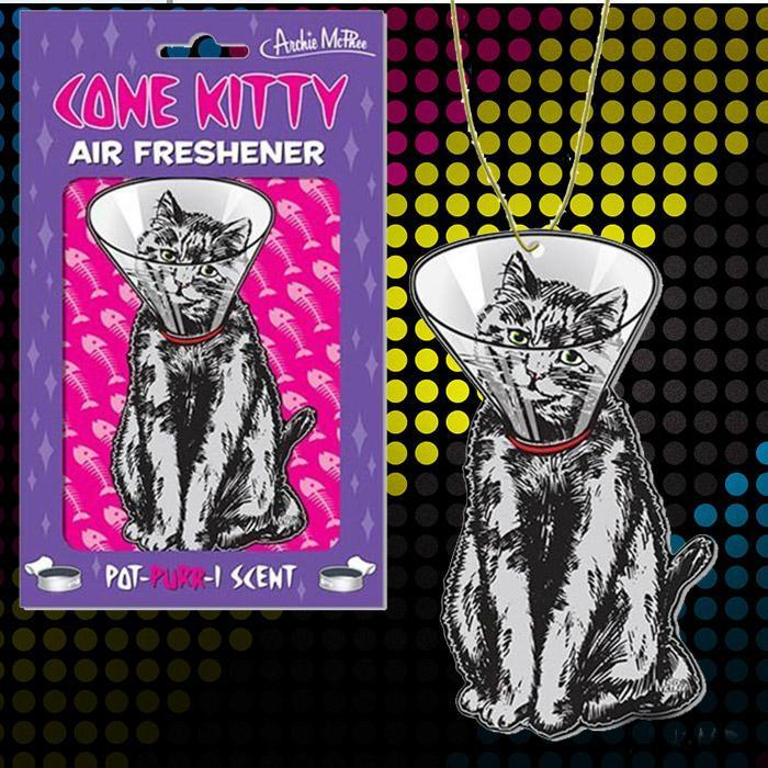 Cone Kitty Air Freshener - - Archie McPhee - Yellow Octopus