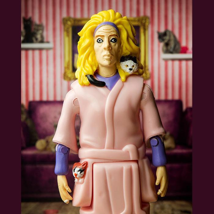 Crazy Cat Lady Action Figure - - Archie McPhee - Yellow Octopus