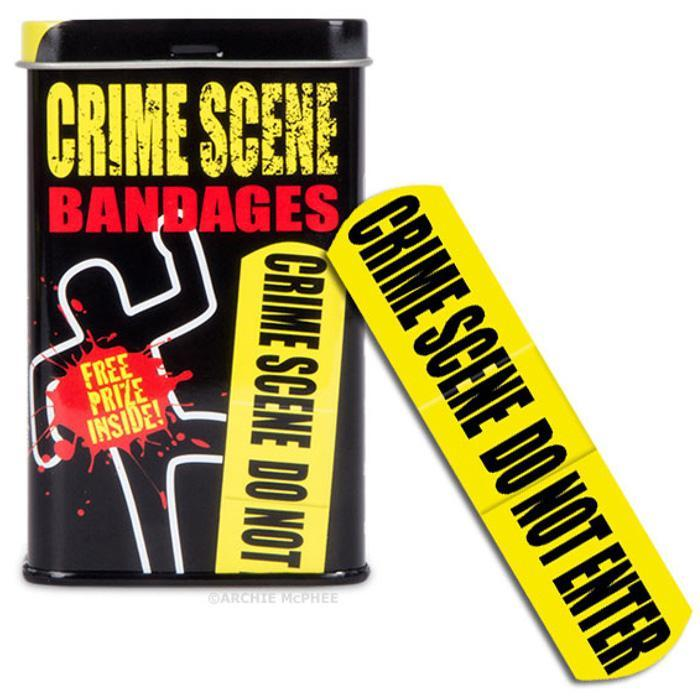 Crime Scene Adhesive Bandages - - Archie McPhee - Yellow Octopus