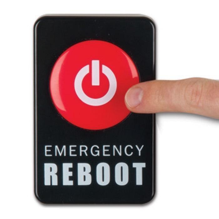 Emergency Reboot Button - - Archie McPhee - Yellow Octopus