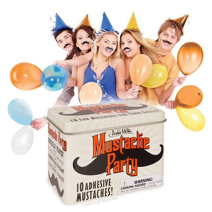 Moustache Party Pack - - Archie McPhee - Yellow Octopus