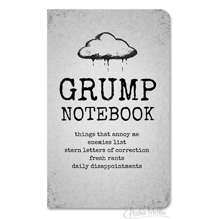 Notebook For Grumps - - Archie McPhee - Yellow Octopus