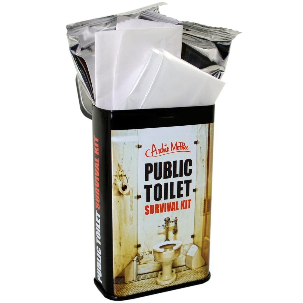 Traveller's Public Toilet Survival Kit - - Archie McPhee - Yellow Octopus