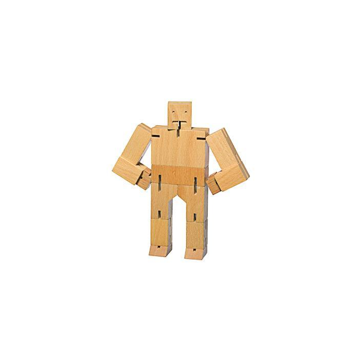 Areaware Cubebot Medium | Wooden Robot Puzzle