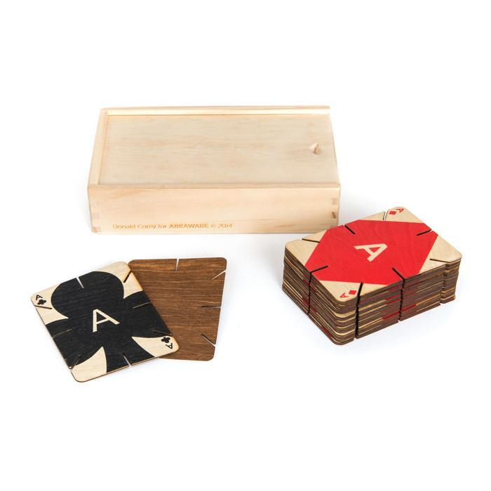 Plywood Playing Cards | Areaware - - Areaware - Yellow Octopus