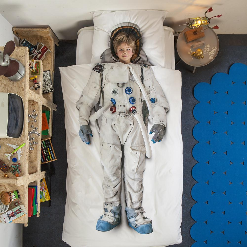 Astronaut Quilt Doona Bed Cover Set - - Snurk - Yellow Octopus