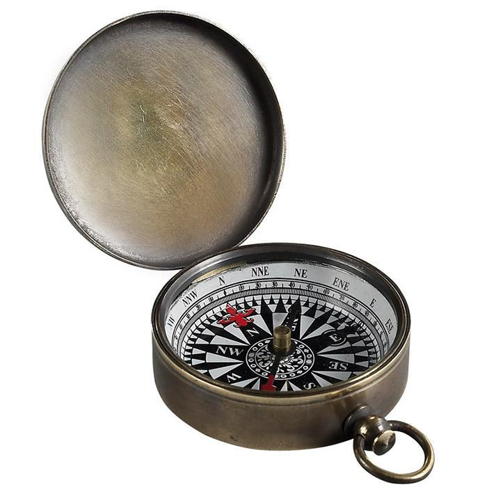 Authentic Models 19th Century Bronze Campaign Trail Compass