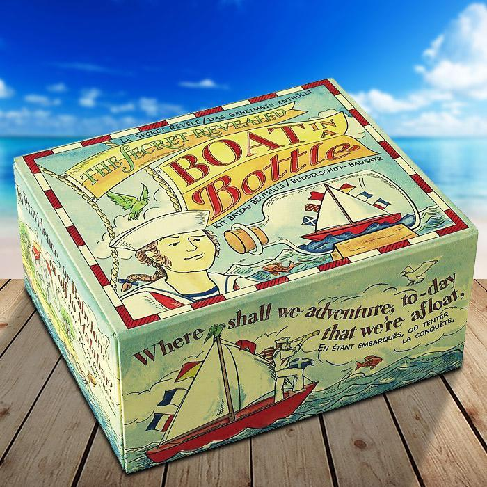 Build Your Own Boat In A Bottle - - Authentic Models - Yellow Octopus