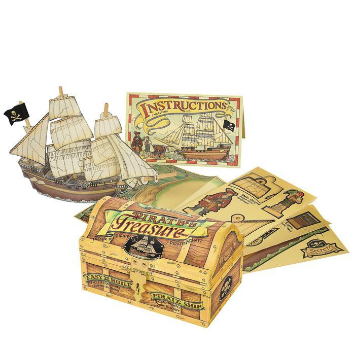 Build Your Own Pirate Ship - - Authentic Models - Yellow Octopus
