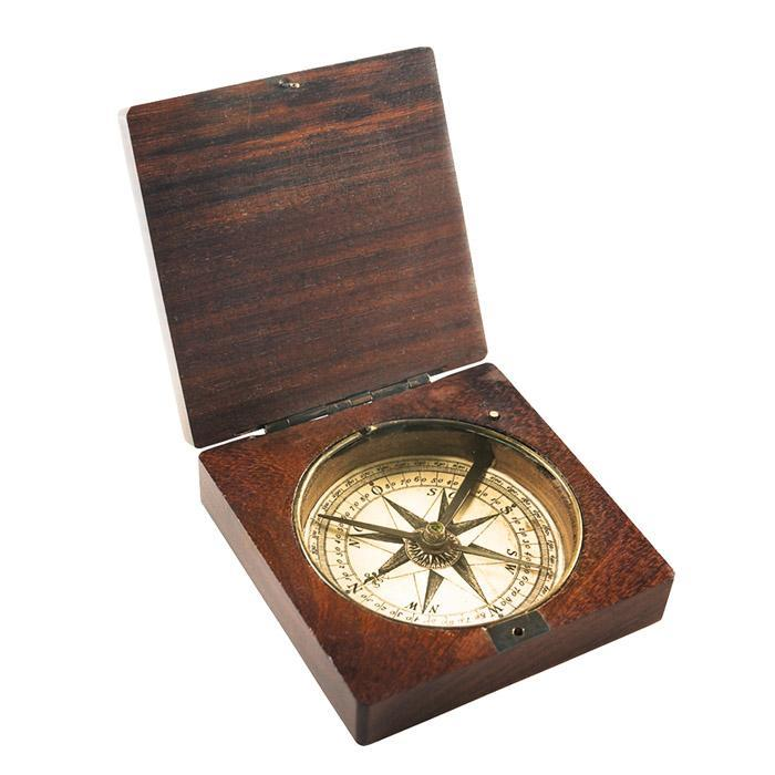 Lewis & Clark Vintage Replica Compass - - Authentic Models - Yellow Octopus