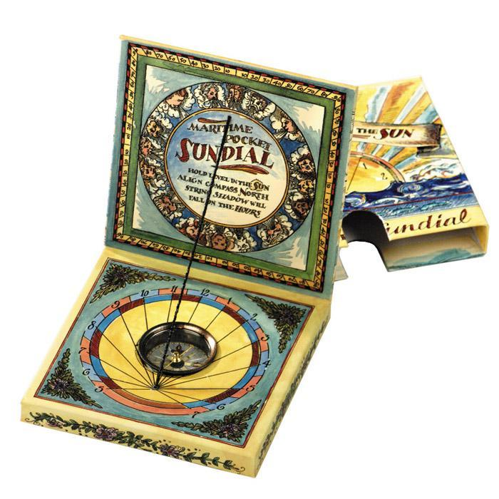 Maritime Pocket Sundial For Children - - Authentic Models - Yellow Octopus