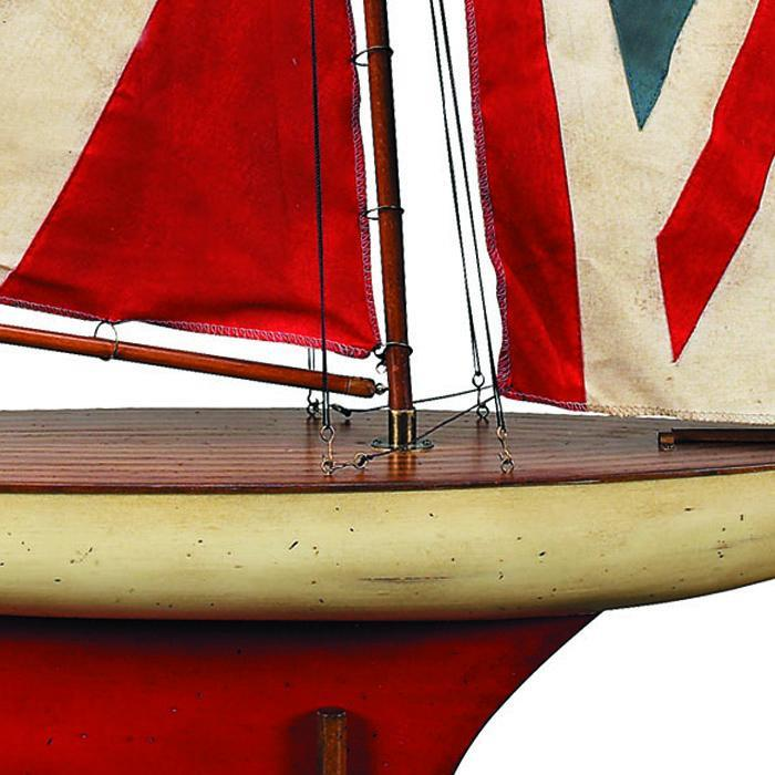 Model Pond Yacht - Union Jack - - Authentic Models - Yellow Octopus