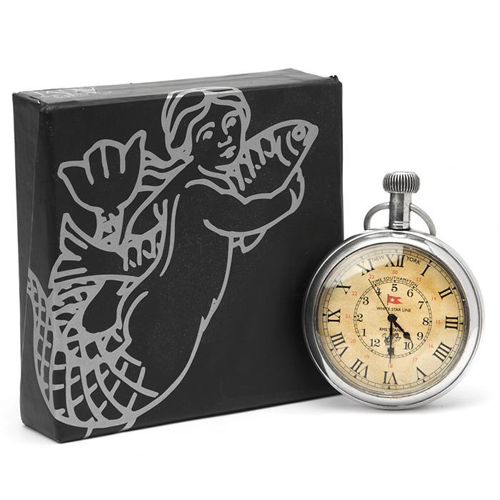 Nautical Victorian Titanic Pocket Watch - - Authentic Models - Yellow Octopus