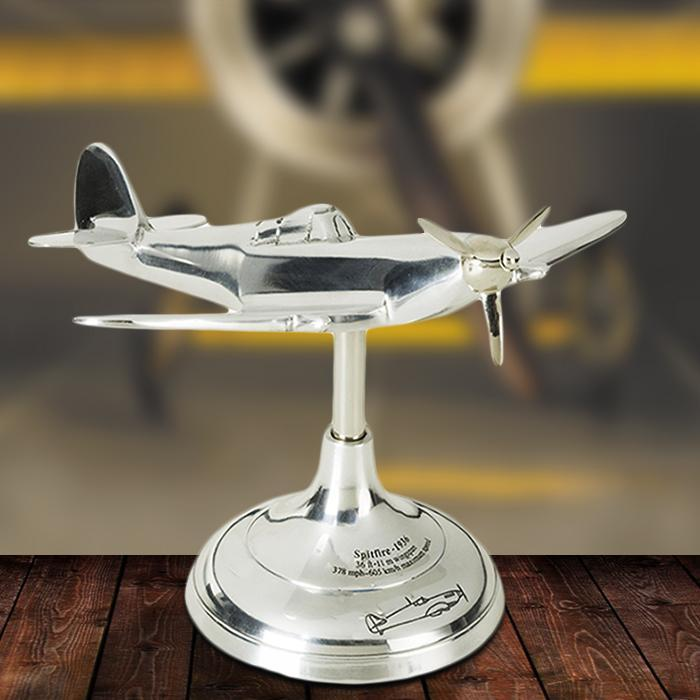 Spitfire Trench Art Model Plane - - Authentic Models - Yellow Octopus