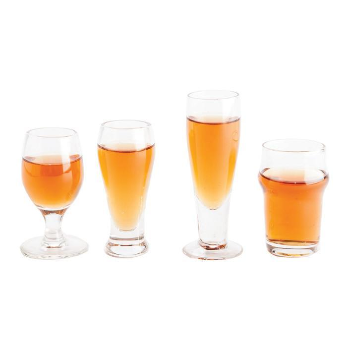 Barbuzzo Craft Mini Beer Shot Glasses - Set of 4