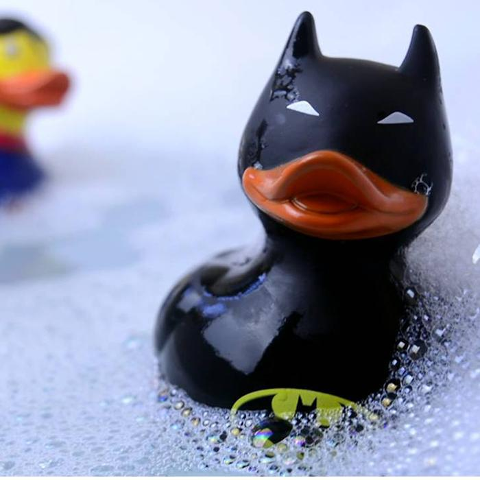 Batman Rubber Duck Bath Toy - - Batman - Yellow Octopus