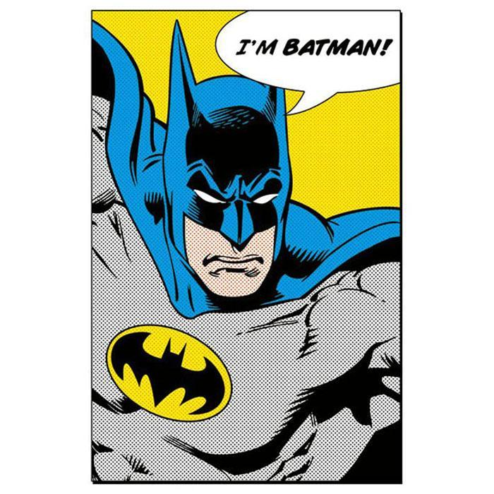 Retro Batman Poster 61 x 91cm - - Batman - Yellow Octopus