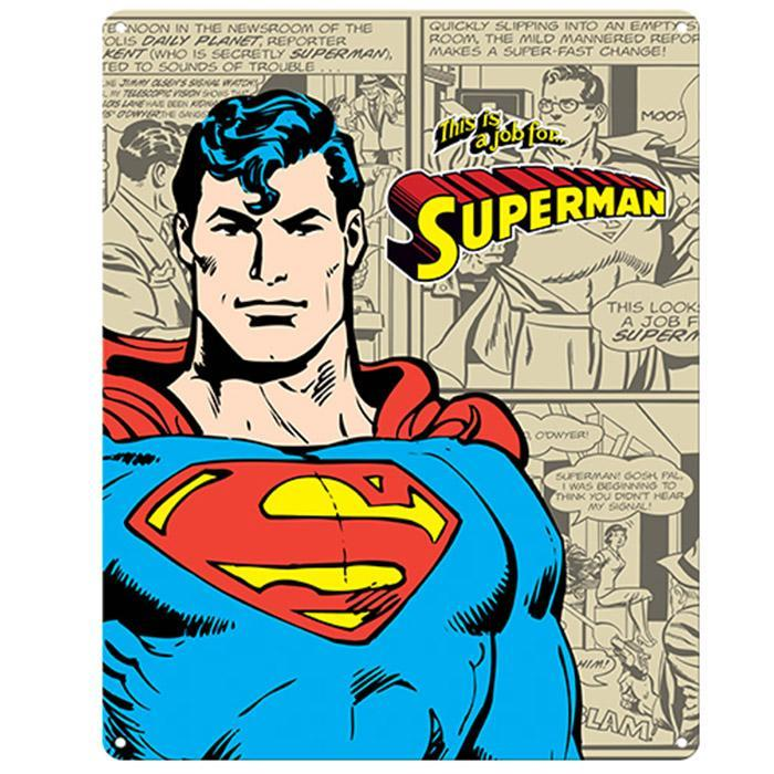 Batman Superman Comic Strip Sign