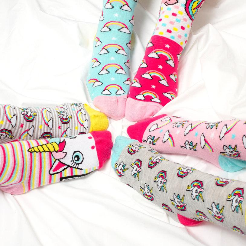 Magical Unicorn Odd Socks Gift Set - 3 Pairs - - United Odd Socks - Yellow Octopus