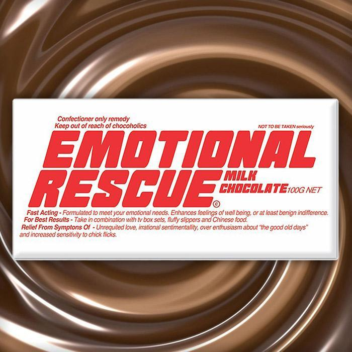 Emotional Rescue Chocolate Bar - Milk Chocolate - Bellaberry - Yellow Octopus