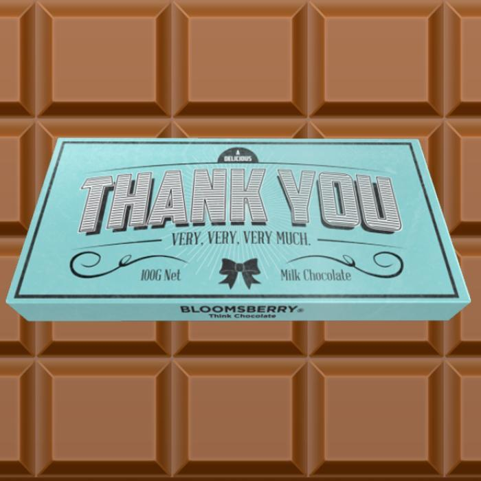 Bellaberry Thank You Chocolate Bar