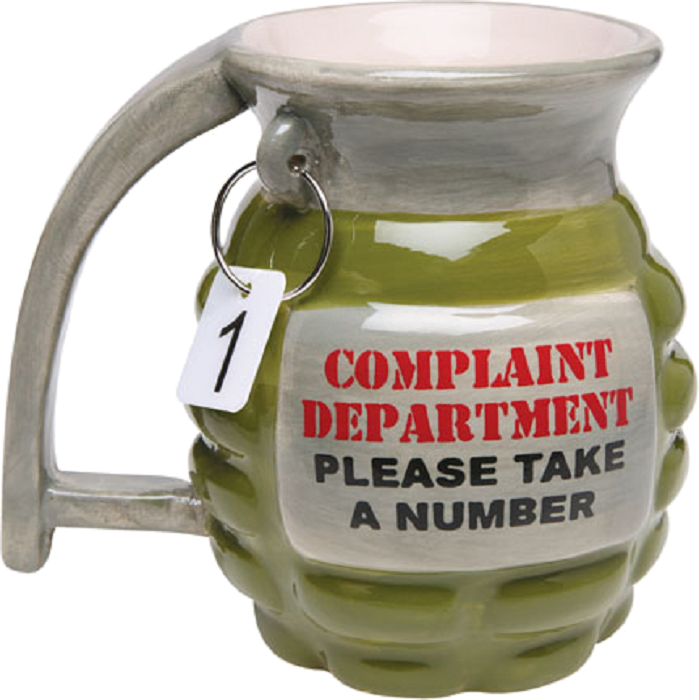 "Big Mouth Toys ""Complaint Department"" Grenade Coffee Mug"