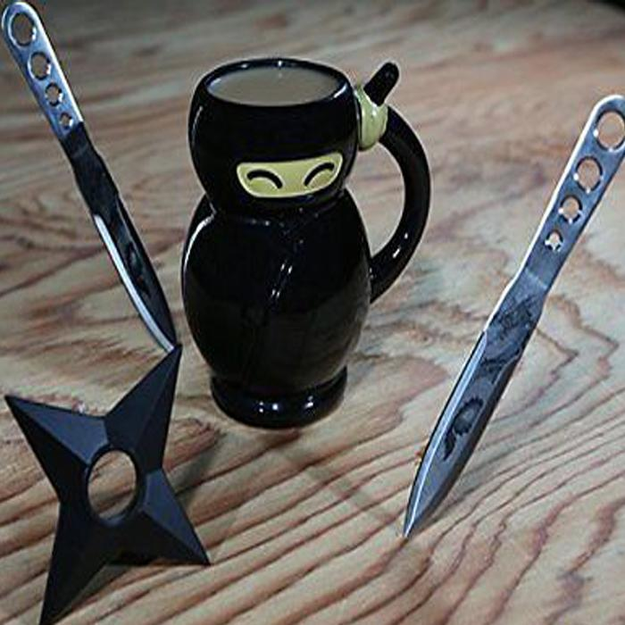 Ninja Coffee Mug - - Big Mouth Toys - Yellow Octopus