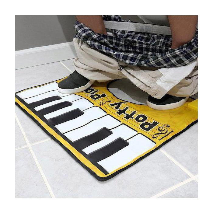 The Original Toilet Potty Piano – Toilet Entertainment - - Big Mouth Toys - Yellow Octopus