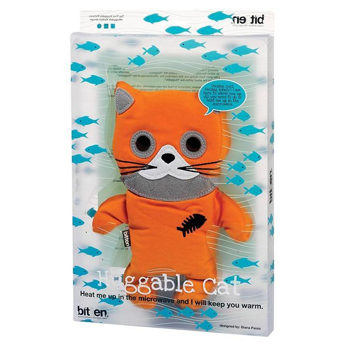 Huggable Cat - Microwaveable Cuddly Heat Pack - - Bitten - Yellow Octopus