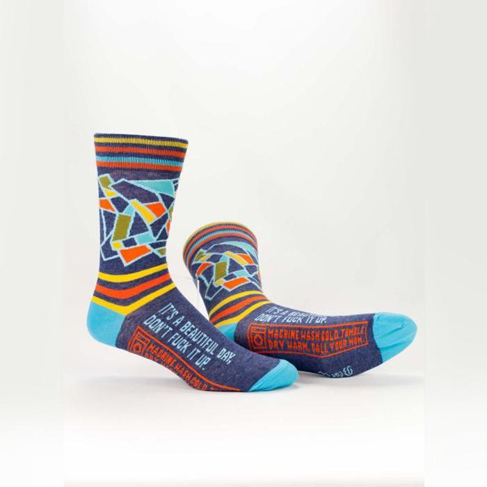 Blue Q 'It's A Beautiful Day, Don't F*ck It Up' Socks