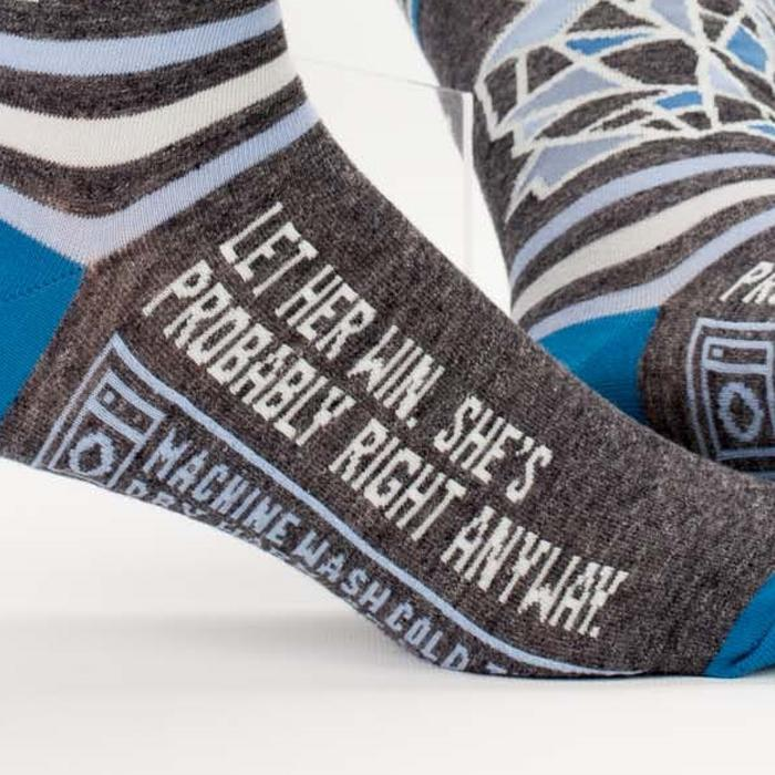 Blue Q 'Let Her Win, She's Probably Right Anyway' Socks