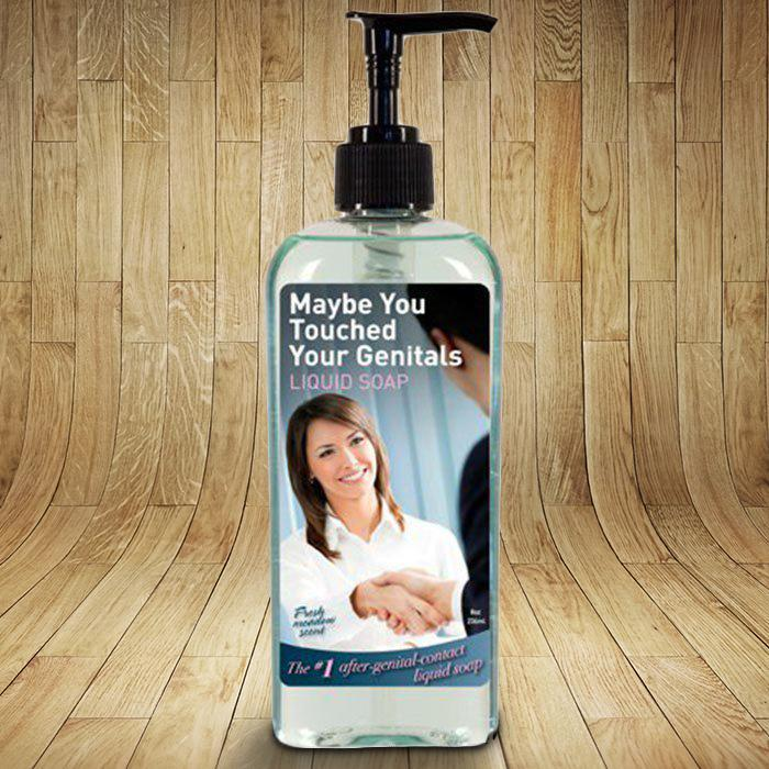 Maybe You Touched Your Genitals Hand Soap - - Blue Q - Yellow Octopus