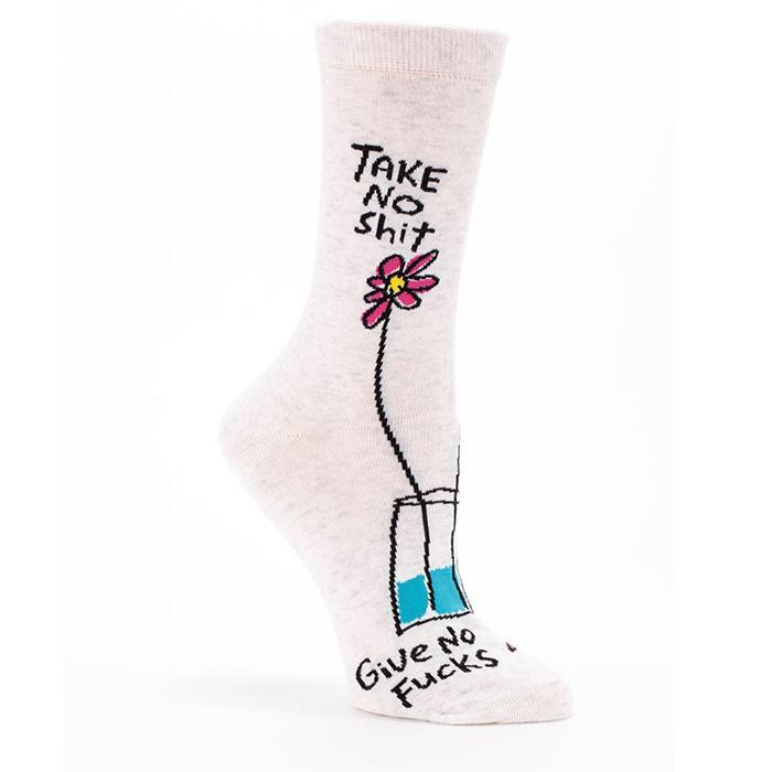 Socks For People Who Don't Give A F#ck - Women's size 5-10 - Blue Q - Yellow Octopus