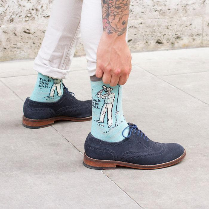 Blue Q Swear Socks For Men
