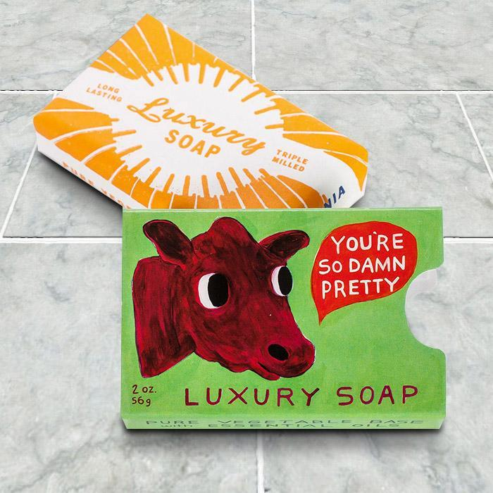 You're So Damn Pretty Luxury Soap - - Blue Q - Yellow Octopus