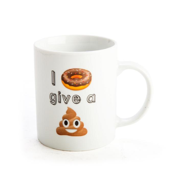 I Doughnut Give A Sh*t - Emoji Coffee Mug - - Boxer Gifts - Yellow Octopus