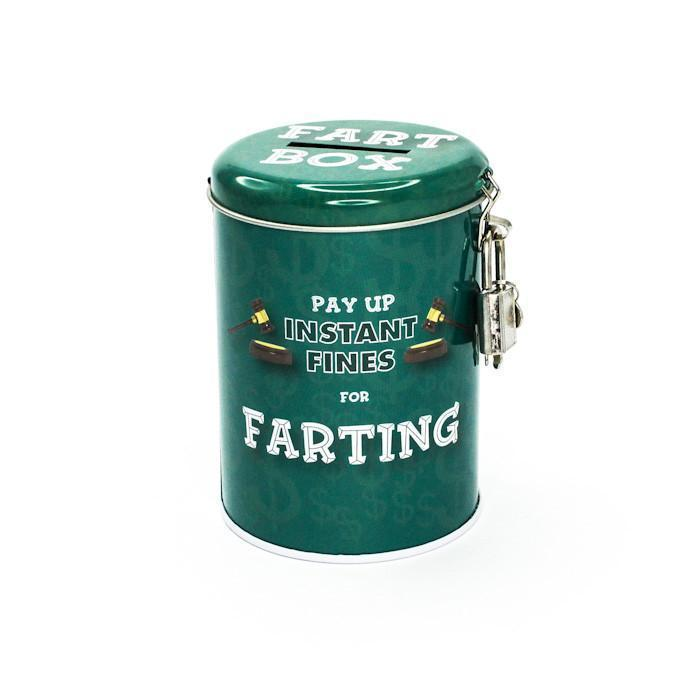 Smuttiness Fines Money Tin - Farting - Boxer Gifts - Yellow Octopus